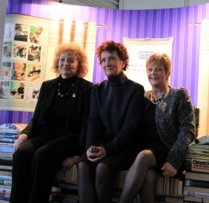 From left, Culture Minister Carál Ní Chuilín with Roisin McDonough, Chief Executive of the Arts Council and Rosaleen Curran, Funding Manager, Big Lottery Fund