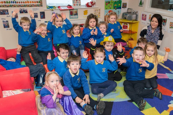 Children from Gran Tots Playgroup
