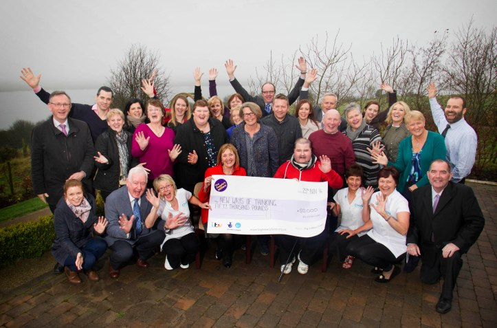 Charis Cancer Care's New Ways of Thinking project celebrating winning £50,000