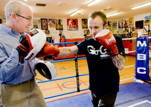 Paul Johnston, Monkstown Boxing Club with Colin Jackson, 20