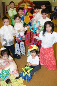 Children and young people from the Filipino community rehearsing traditional dance and Christmas carols
