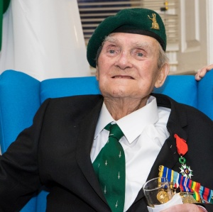 Pat Gillen wearing his new medal for Chevalier de la legion d'Honneur