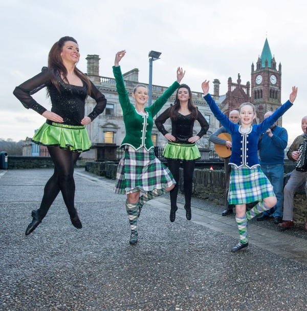 North West Tongues, Tones and Tappin' perform at the annoucement of £400,000 of funding  to the Community Foundation for Northern Ireland