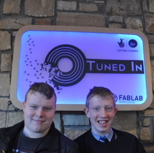 Jason Welsh and Oran Doherty at Tuned in radio station