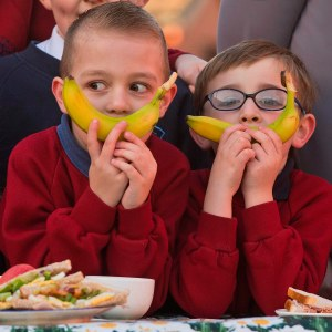 Pupils from St Matthew's Primary and Victoria Park Primary Schools intend to have fun at The Big Lunch in June