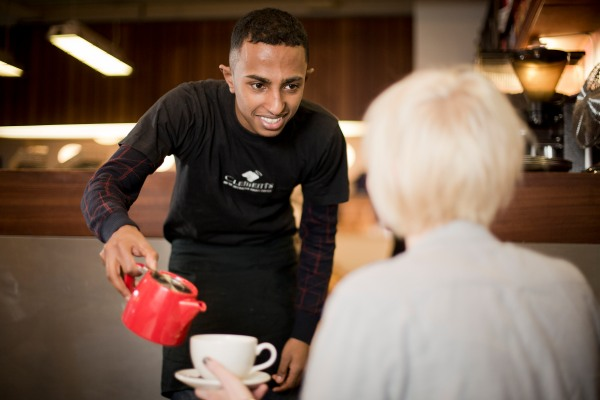 Include Youth helped Henok get a work placement at Clements coffee shop
