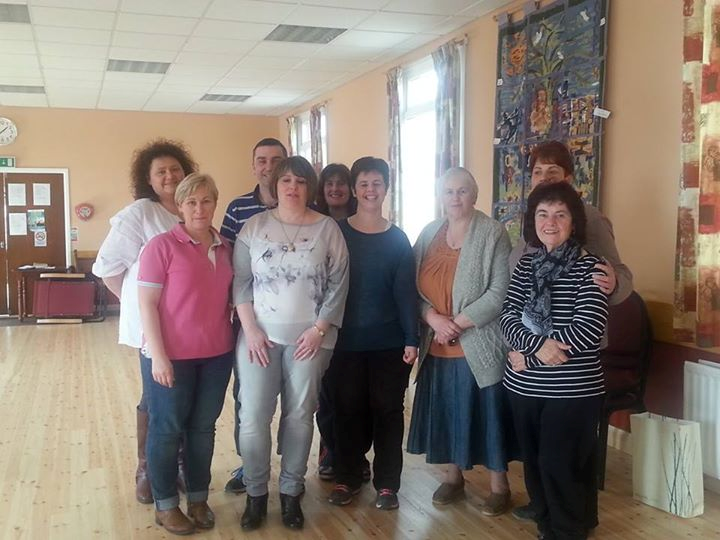 members of the Belleek Community Carers group that won an Awards for All grant.