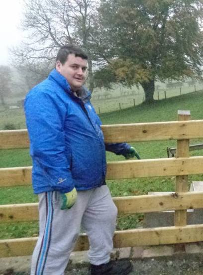 Ryan Burton is taking part in the Awards for All funded project at Gortilea. I enjoy the craic with the other men at the farm, and I always sleep well after a hard day's work.""