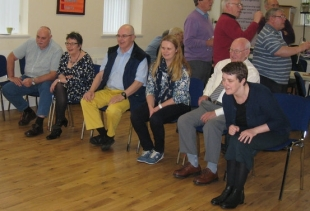 Funding Manager Beth Bell and Communications manager Caroline Hanna took some time out of the office to visit the Getting Out There project run by Newtownabbey's Senior Citizens' Forum.