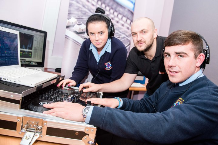 Chloe Louise Monaghan from CBS, Carl Fitzpatrick, from Giga Training and Cillian Brennan from CBS.