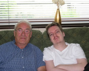 Craig Fisher when he was younger with his dad