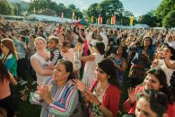 People enjoying Belfast Mela