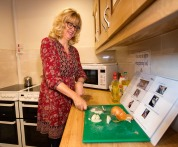 Moya learnt how to cook again at Head Injury Support