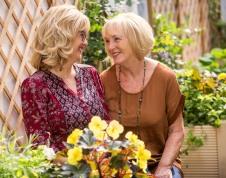 Moya with her mum Carol