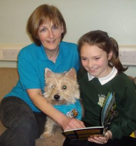 Pawzitive's Book Buddies dogs are helping kids who are struggling to read- #A4ANI funded