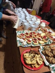 The group had an array of beautiful homemade food at their event