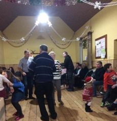 All ages danced and had fun together at the Christmas celebration.