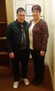 Clare McGovern and her son Kieran who has ADHD and mobility problems as a result of contracting Meningitis as a baby.