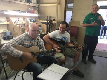 Sing along at Armagh Men's Shed