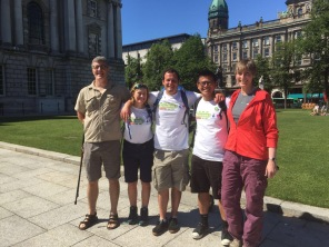 The walkers met Julie Harrison from Big Lottery Fund in Belfast and walked to the Big Lunch