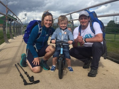 Olivia and Noel at Sam Thompson Bridge, Connswater Community Greenway
