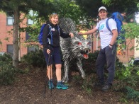 Olivia and Noel at CS Lewis Square, Connswater Community Greenway