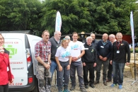 Noel and Olivia with the members from Be Safe Be Well men's shed