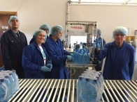 Clearer Water production line. L-R Jerome Grace, Ryan Spence, Sammy Johnstone, James Hanvey